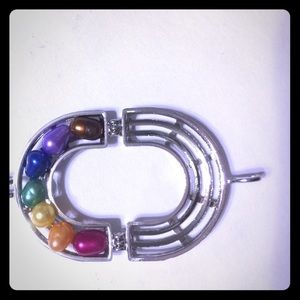 Jewelry - Rainbow cage with freshwater pearls